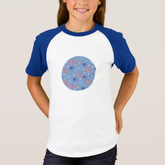 T-shirt do Raglan das meninas chinesas das Camiseta