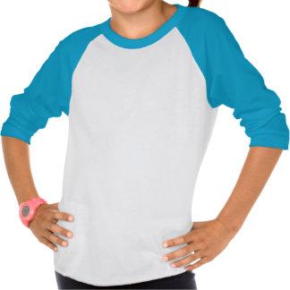 T-shirt do raglan das meninas com penas