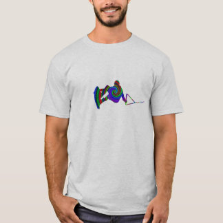 T-shirt do redemoinho da cor de Wakeboard Camiseta