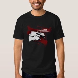 T-shirt do respingo do bombardeiro