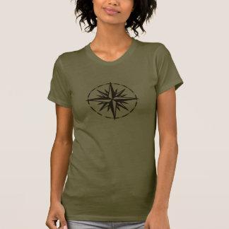 T-shirt do rosa de compasso de Brown
