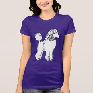 T-shirt do roxo do jérsei do Bella das mulheres Camiseta
