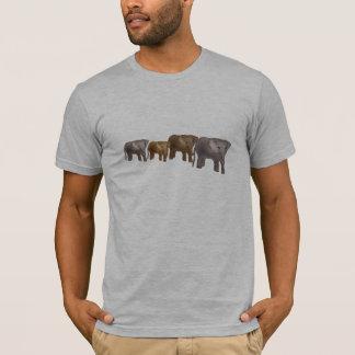 T-shirt do safari do elefante camiseta