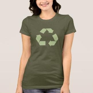 T-shirt do símbolo do reciclar disponível com camiseta