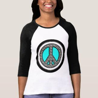 T-shirt do sinal de paz da zebra