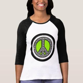 T-shirt do sinal de paz da zebra camiseta