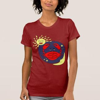 T-shirt do sinal do zodíaco do cancer