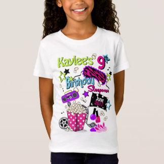 T-shirt do Sleepover das meninas da camisa do