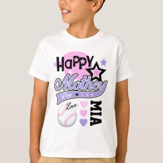 T-shirt do softball das meninas da camisa do dia