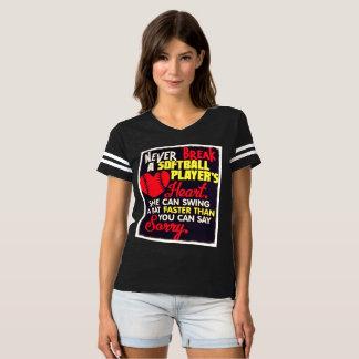 t-shirt do softball das mulheres camiseta
