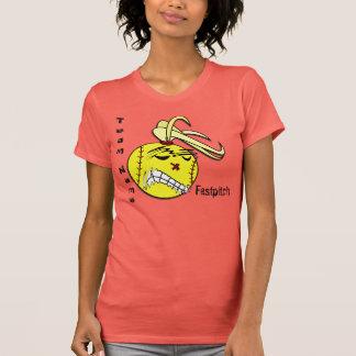 T-shirt do softball de Fastpitch
