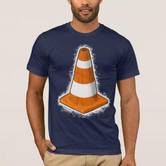 T-shirt do Splatter do cone da segurança de Camiseta