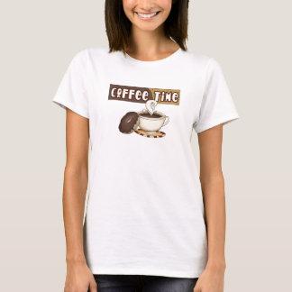 t-shirt do tempo do café camiseta