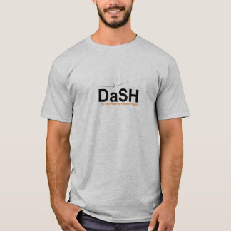 T-shirt do traço, cinza, grande logotipo camiseta