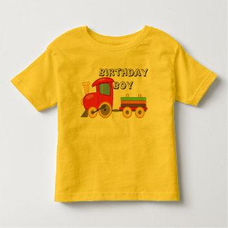 T-shirt do trem da criança do menino do