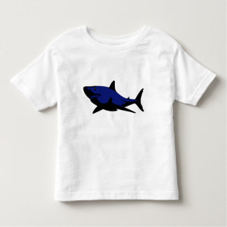 T-shirt do tubarão azul camiseta infantil