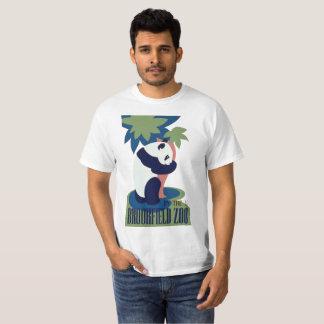 T-shirt do urso de panda do jardim zoológico de camiseta