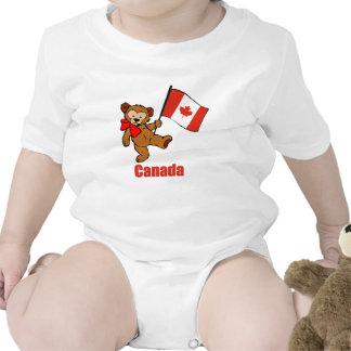 T-shirt do urso de ursinho de Canadá