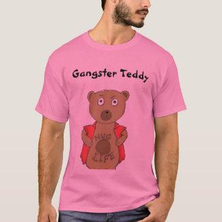 T-shirt do urso de ursinho do gângster camiseta