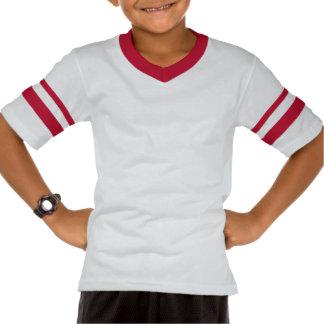 T-shirt do V-Pescoço da luva dos miúdos do