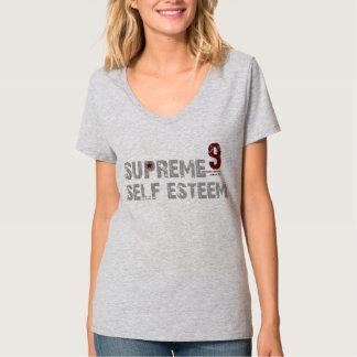 T-shirt do V-Pescoço das mulheres supremas do