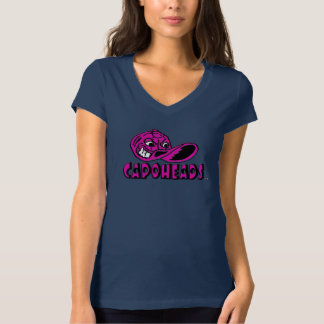 T-shirt do V-Pescoço do jérsei das canvas de Bella Camiseta