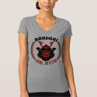 T-shirt do V-Pescoço do Randori Jiu Jitsu das Camiseta