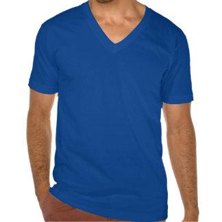 T-shirt do V-Pescoço dos homens da cruz do ferro