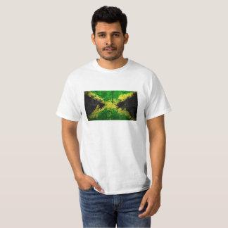 T-shirt do valor com bandeira de Jamaica Camiseta