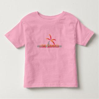T-shirt do verão da palmeira
