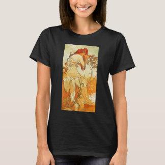T-shirt do verão de Alphonse Mucha Camiseta