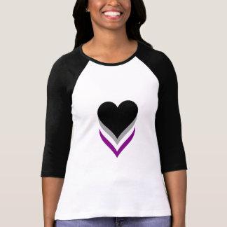 T-shirt dos corações do orgulho do Asexuality Camiseta