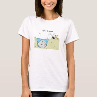 T-shirt dos desenhos animados da pesca de Spiro & Camiseta