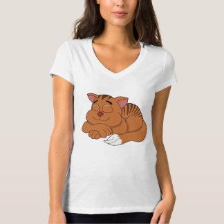 T-shirt dos desenhos animados do gato camiseta
