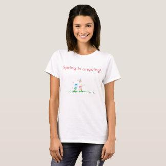 T-shirt dos desenhos animados do primavera camiseta
