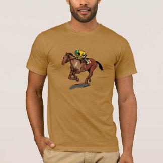 T-shirt dos homens da corrida de cavalos camiseta
