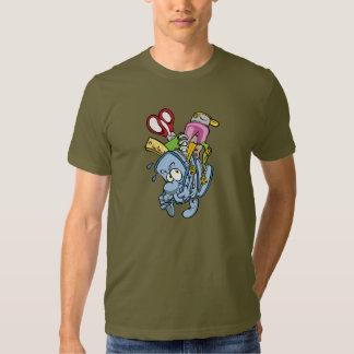 T-shirt dos homens das fontes de escola