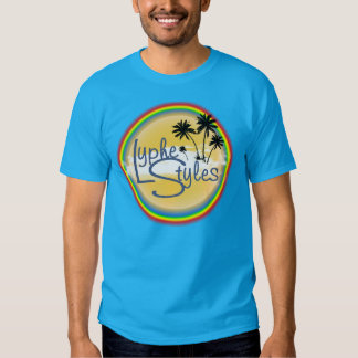 T-shirt dos homens do arco-íris das palmeiras do