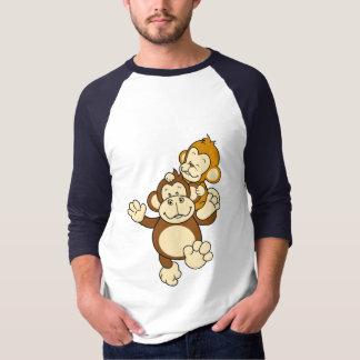 T-shirt dos irmãos do macaco camiseta