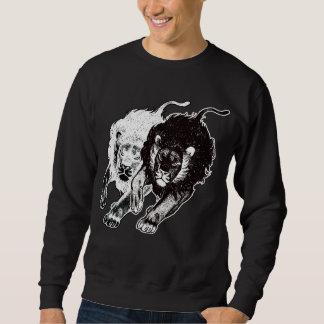 T-shirt dos leões de Yin e de Yang