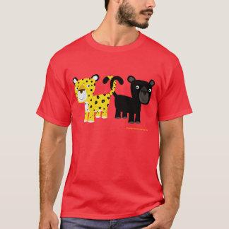 T-shirt dos leopardos do amor camiseta