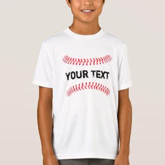 T-shirt dos meninos da bola rápida da emenda dos camiseta