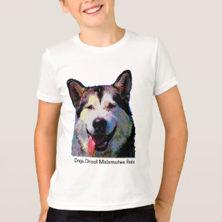 "T-shirt dos meninos do brilho ""Kiska"" do Malamute"