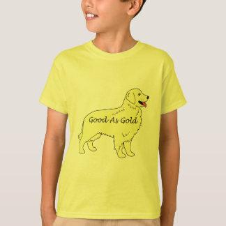 T-shirt dos miúdos do golden retriever bom como o camiseta