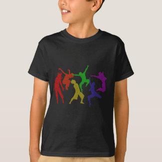 T-shirt dos miúdos dos dançarinos camiseta