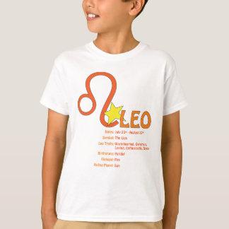 T-shirt dos miúdos dos traços de Leo Camiseta