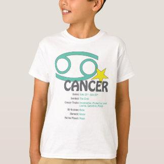 T-shirt dos miúdos dos traços do cancer camiseta