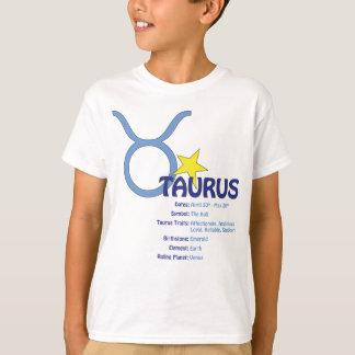 T-shirt dos miúdos dos traços do Taurus Camiseta