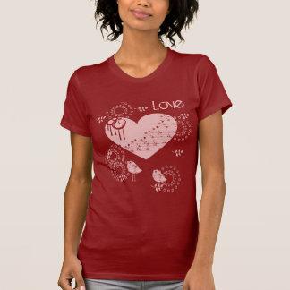 T-shirt dos pássaros do amor