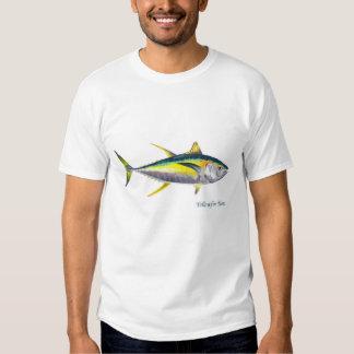 T-shirt dos peixes de atum do atum amarelo